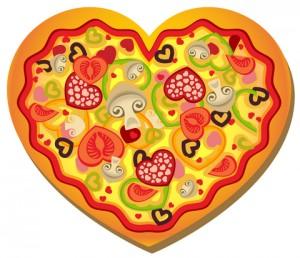 پیتزا قلبی