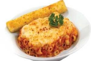 پیتزای ماکارونی با سبزیجات