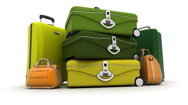 دیدن چمدان خالی کوچک و بزرگ