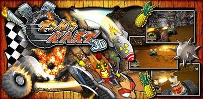 بازی هیجان انگیز Tiki Kart 3D v1.4 - بازی اندروید