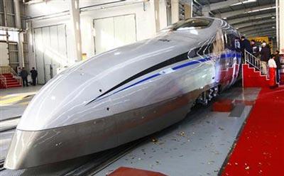 قطار جدید چينيها با سرعت 500 كيلومتر بر ساعت