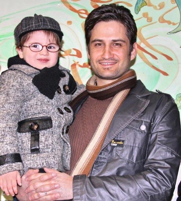 عکس زیبای پویا امینی و پسرش