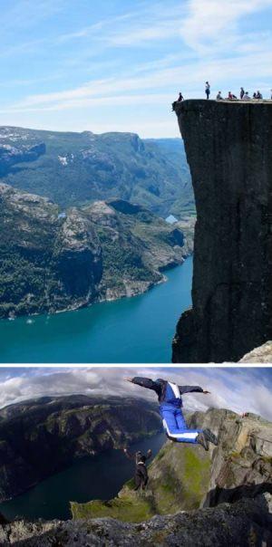 پرش از صخره، نروژ