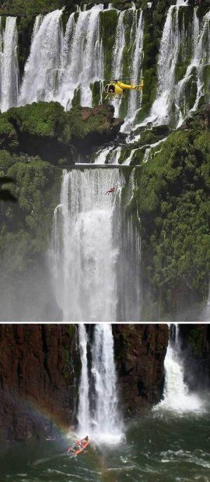 قایق سواری روی آبشار، آرژانتین و برزیل