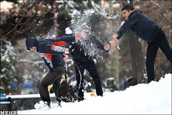 بارش برف تهران