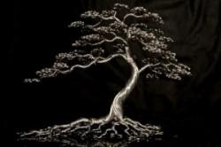مجسمه های درختی زیبا با تاب دادن سیم های آلومینیومی