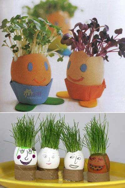 مدل سبزه هفت سین تخم مرغی