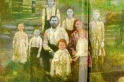 خانواده ای شگفت انگیز با رنگ پوست آبی