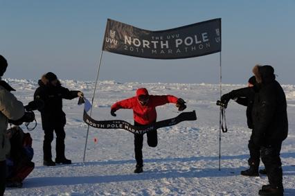 ماراتن 100 کیلومتری در قطب شمال