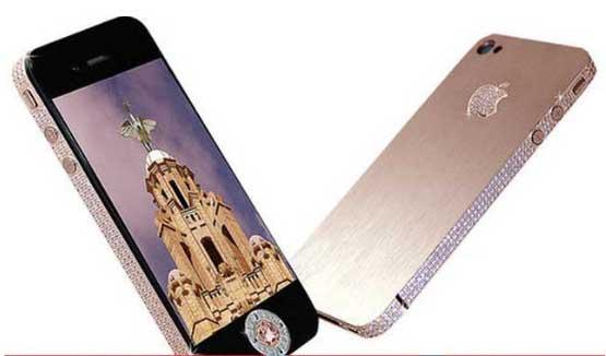 Diamond rose i phone 4 - گرانترین گوشی موبایل جهان را بشناسید! 11 گرانقیمت ترین گوشی های دنیا