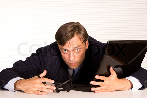 nice man at computer