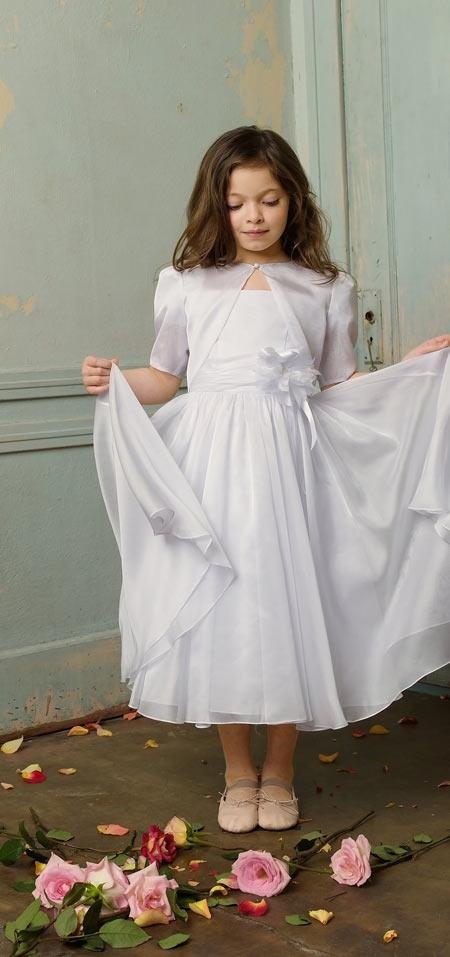 مدل لباس شب سفید كودكانه دخترانه