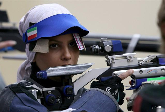 عکس الهه احمدی در المپیک