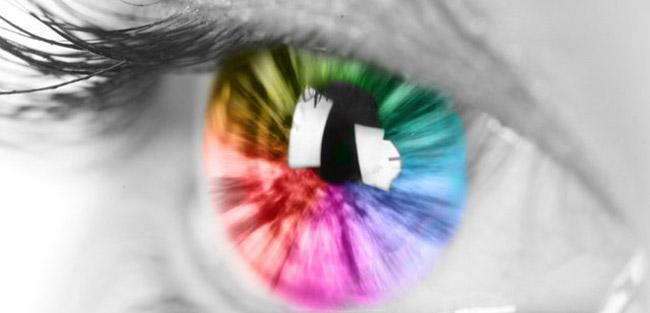 چشم رنگی