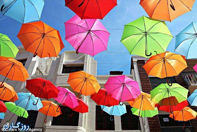 خیابان چترهای رنگی