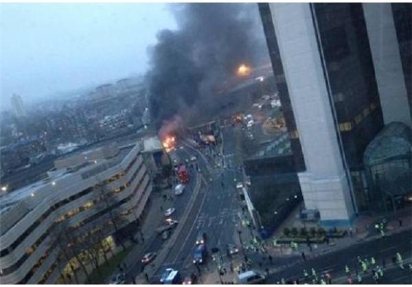 سقوط بالگرد در مرکز شهر لندن