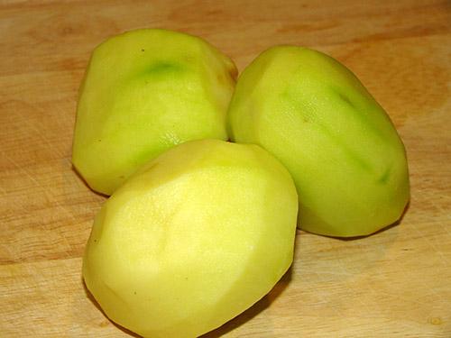 پوست کندن سیب زمینی