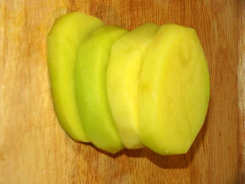 حلقه حلقه کردن سیب زمینی