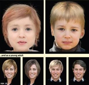 پیش بینی چهره کودک کیت میدلتون