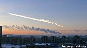 سقوط شهاب سنگ در روسیه صدها زخمی داد + عکس