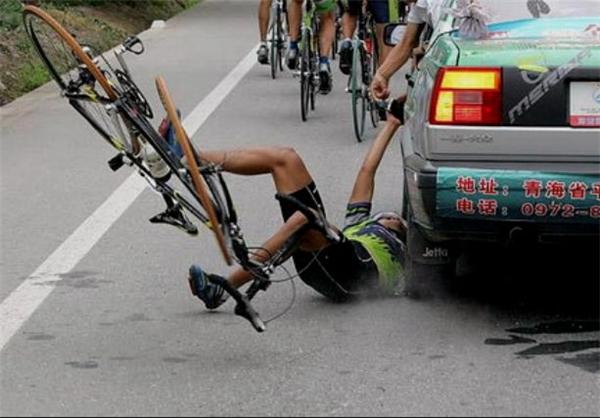 عکس دیدنی - یک ثانیه قبل از حادثه