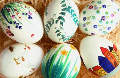 رنگ آمیزی نقاشی مخصوص سفره هفت سین آموزش تزیین تخم مرغ مخصوص سفره هفت سین عید نوروز