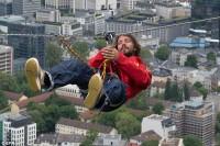 رکوردشکنی مردی که از ارتفاع میترسد/عکس