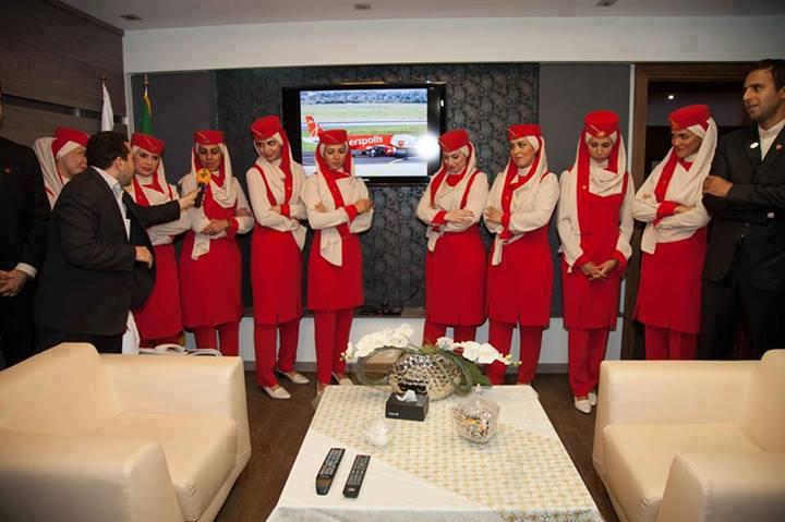 خانمهای مهماندار هواپیمای پرسپولیس+عکس