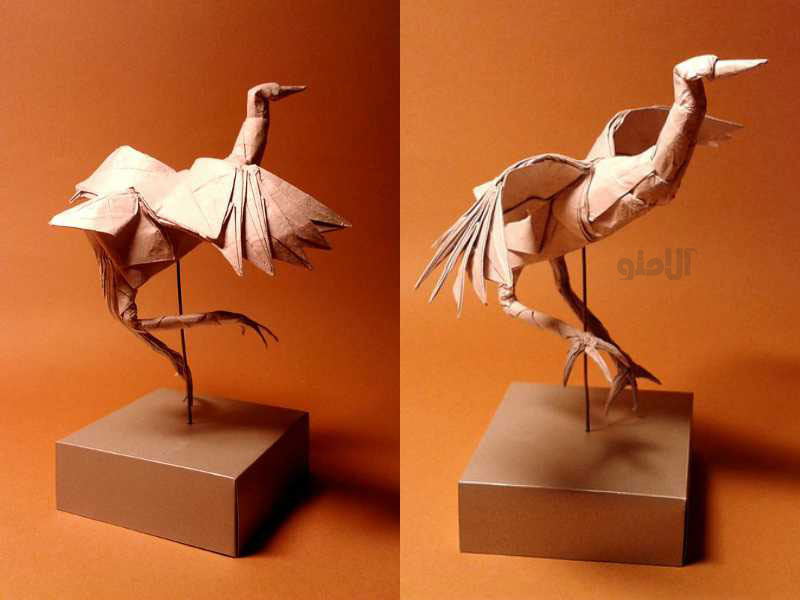 Dancing-Crane-Beautiful-3D-Origami-by-Jaroslav-Mishchenko