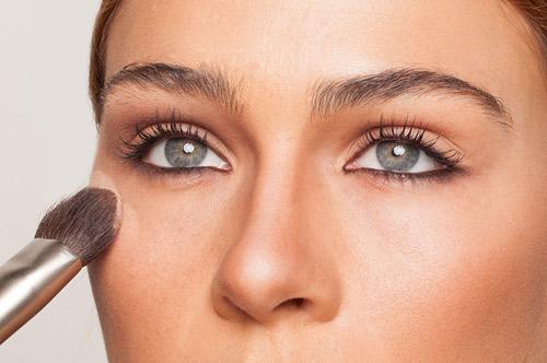 آموزش گریم صورت,آرایش صورت برجسته سازی گونه ها 2