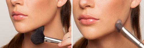 آموزش گریم صورت,آرایش صورت برجسته سازی فک