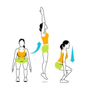 حرکت ورزشی کالری سوز,پرش اسکوات