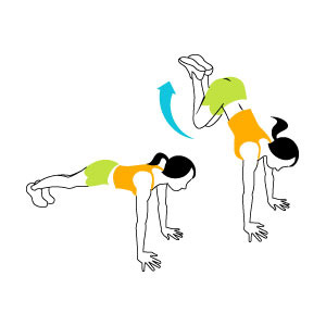 حرکت ورزشی کالری سوز,تمرین پرتاب پاها برای افزایش چربی سوزی
