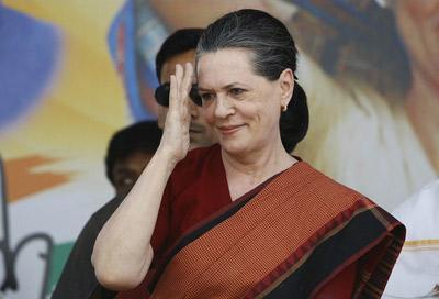 قدرتمندترین زنان دنیا,سونیا گاندی ، رییس جمهور کنگره ملی هندوستان