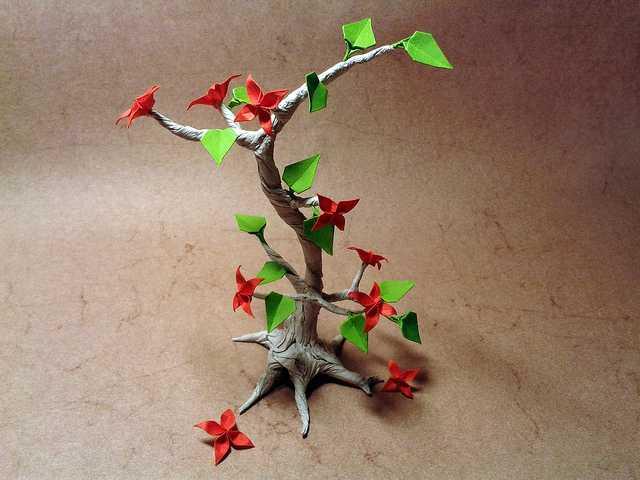 origami-bonsai-Beautiful-3D-Origami-by-Jaroslav-Mishchenko