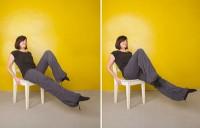 ورزش های شکم روی صندلی