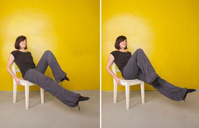 پیلاتیس با صندلی برای سفت کردن شکم