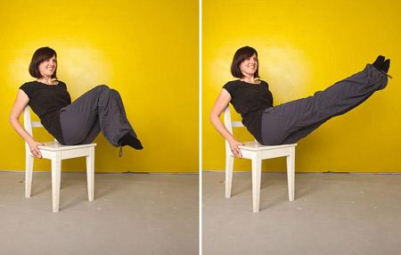 تمرینات پیلاتس با صندلی