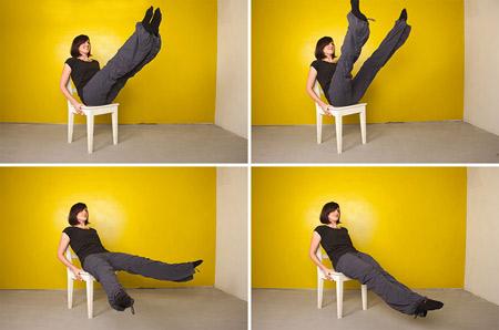 پیلاتس با صندلی برای سفت کردن شکم