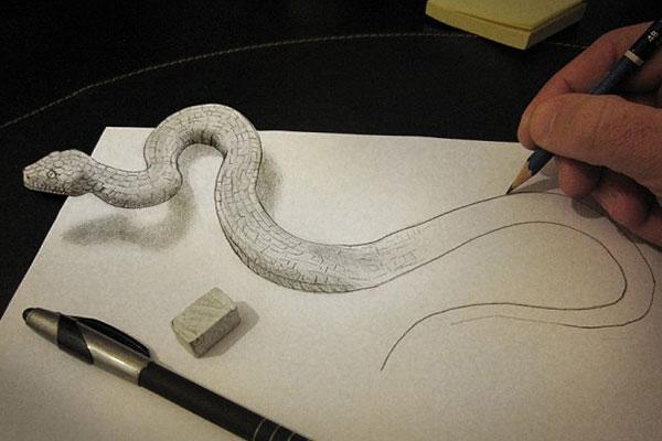 هنر دیدنی نقاشی سه بعدی / عکس
