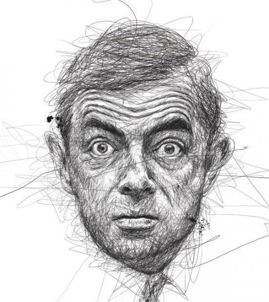 خلق نقاشی با خط خطی کردن
