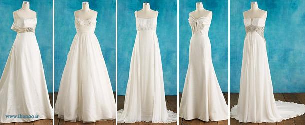 لباس عروس برای کسانی که بالاتنه کوچک دارند