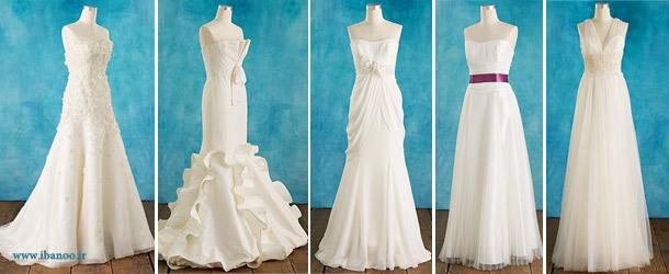 لباس عروس برای اندام مستطیلی