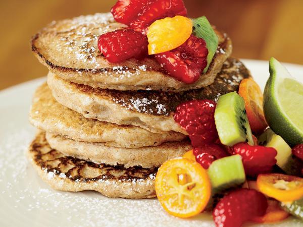 بهترین غذاها برای رژیم لاغری,پنکبک نارگیلی