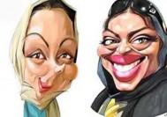 کاریکاتور های جذاب از هنرپیشه های ایرانی