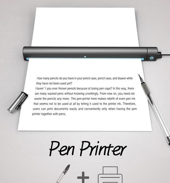 پرینتری که با جوهر یک خودکار شارژ می شود + عکس