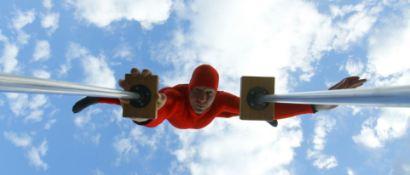 حرکت خطرناک ژیمناستیک کار + تصاویر