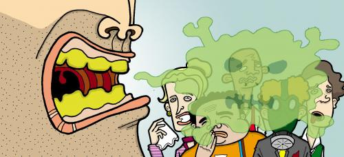 بوی بد دهان بعد از خوردن سیر و پیاز
