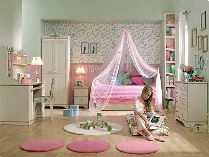 مدل دکوراسیون جدید اتاق خواب دخترانه