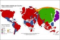 پربازدیدترین سایتهای اینترنتی دنیا در کشورهای مختلف